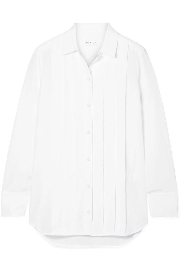 Jack Pleated Washed-silk Shirt