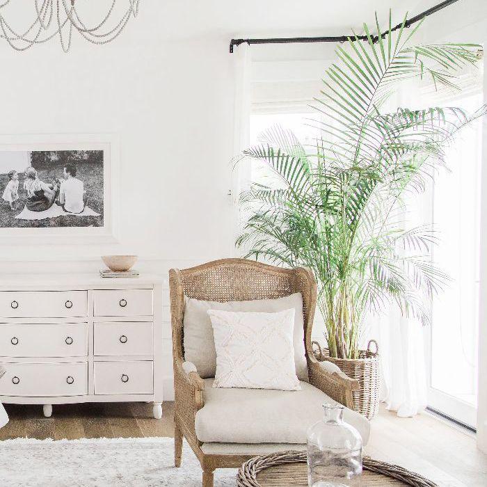 Corner shot of master bedroom in Ali Fedotowsky home