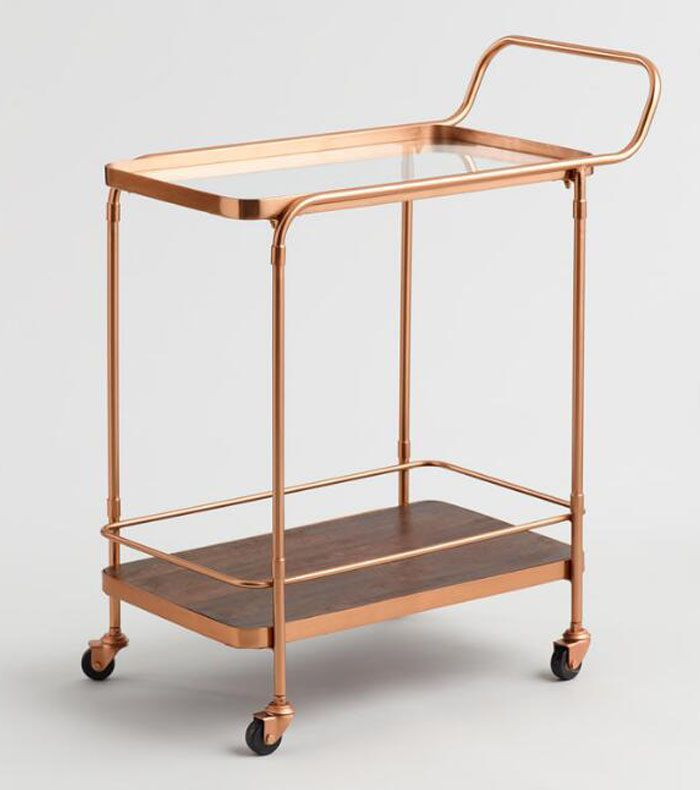 Vintage Midcentury Industrial Bar Cart