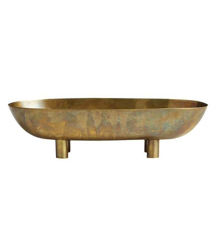 Gleam Brass Footed Bowl