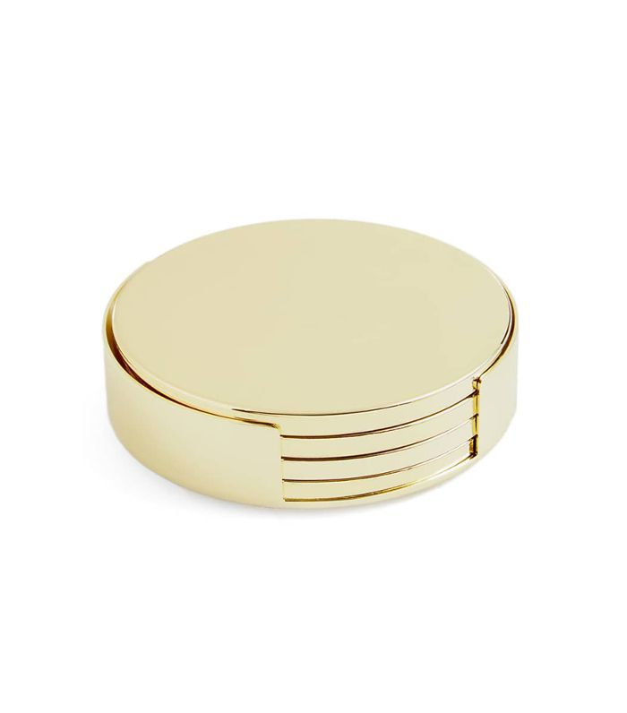 Aerin Yves Set of 4 Coasters With Holder