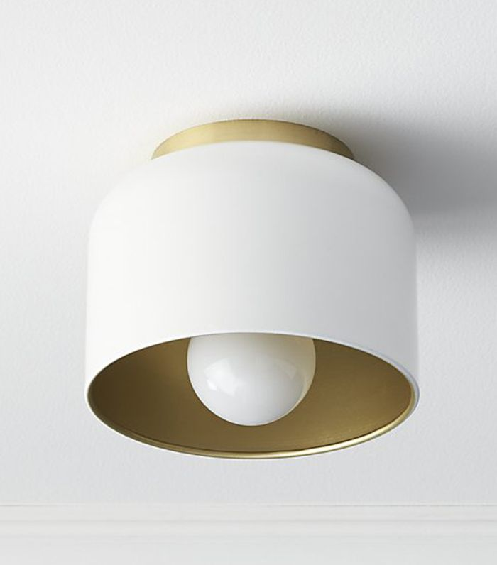 bell white flush mount light