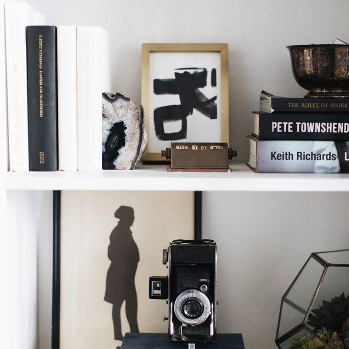book shelf ideas—The Everygirl Home Tour