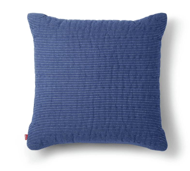 Striped Throw Pillow Navy