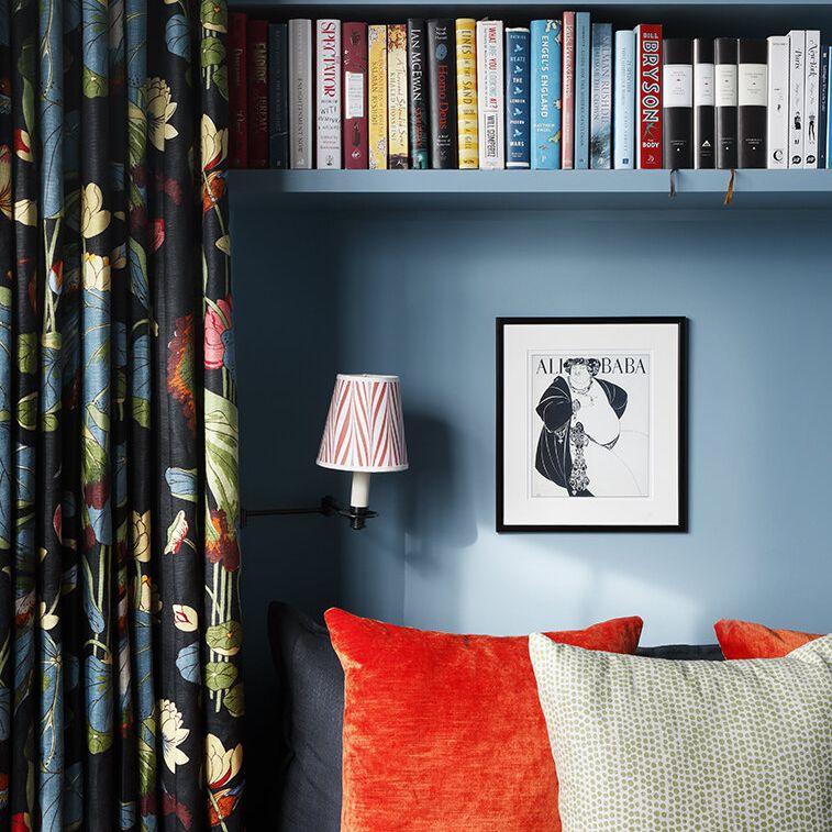 Colorful cozy reading nook