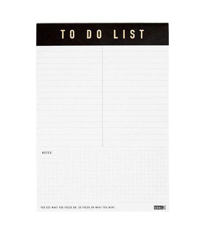 A5 Life Essentials To Do List pad