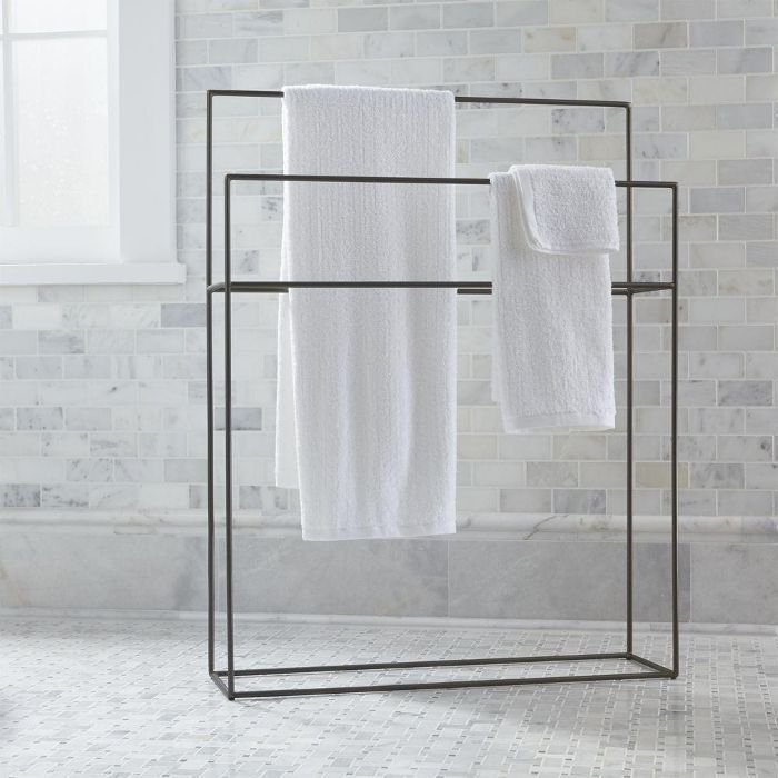 Jackson Standing Towel Rack - Crate and Barrel