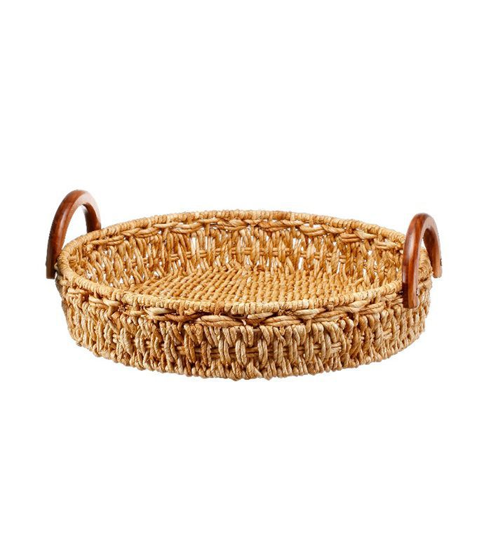 Target Wicker Tray With Wood Handles