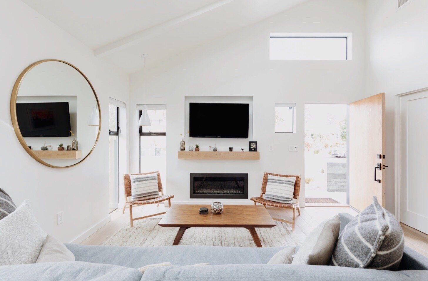 Natural light in modern living room