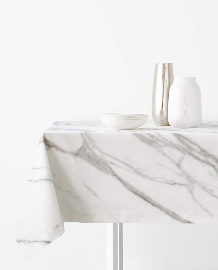Zara Home Marbled Resin Tablecloth