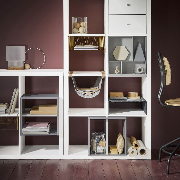 White open-shelving system