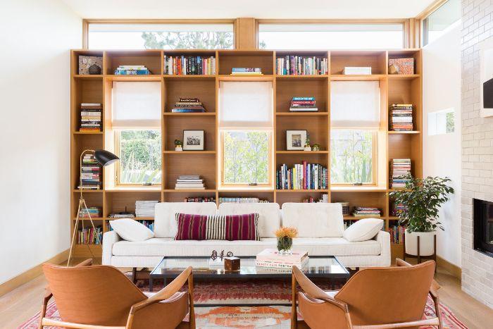 Natal Mahogany in a mid-century modern living room