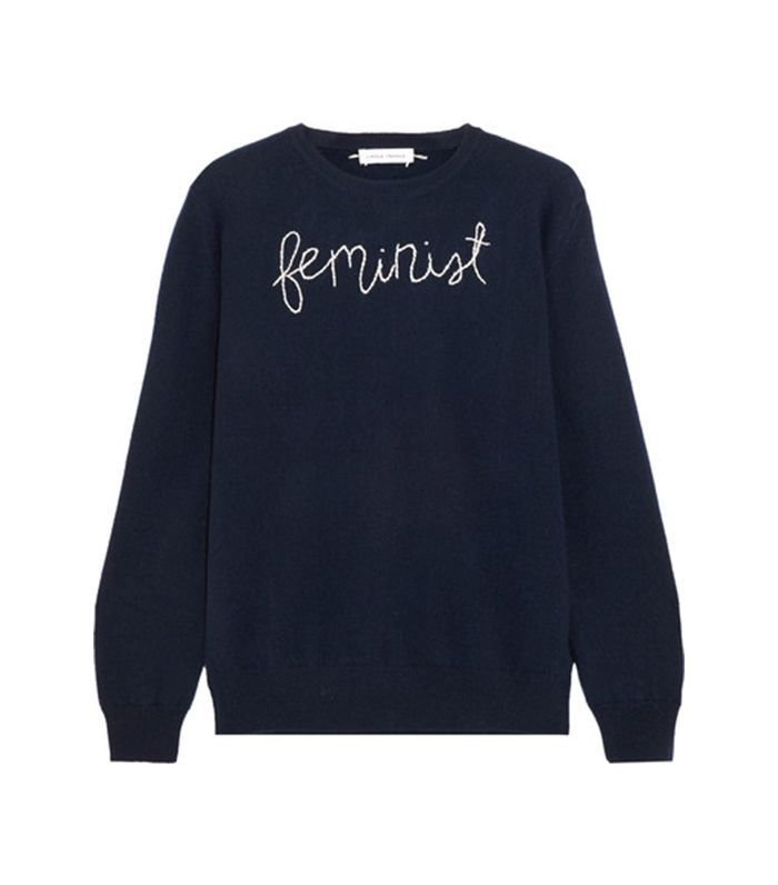 Feminist Embroidered Cashmere Sweater