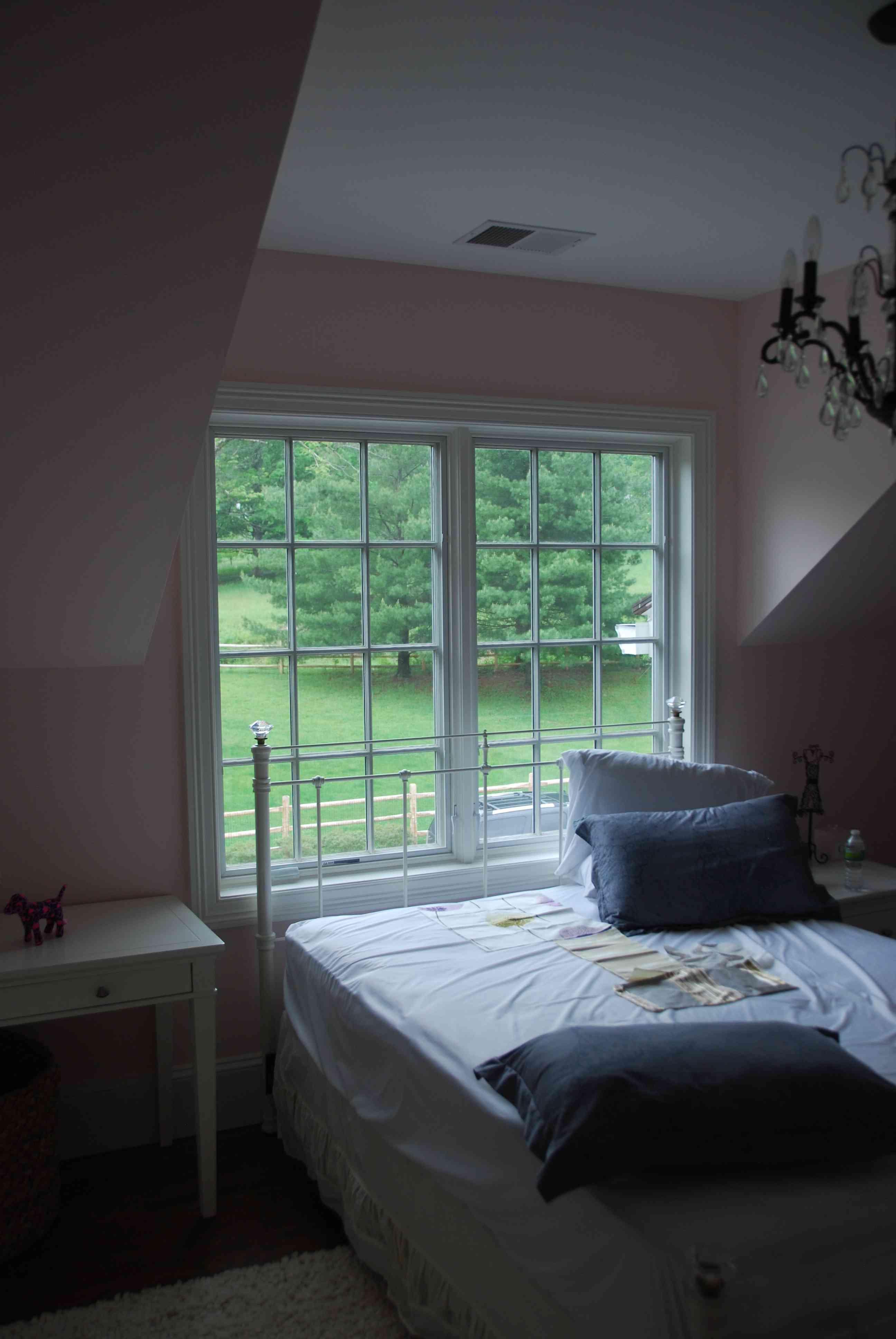 Dark and dull boy's bedroom.