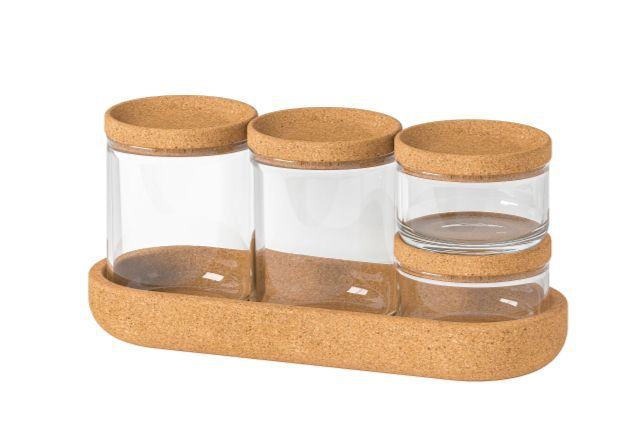 IKEA Saxborga Jar With Lid, Set of 5