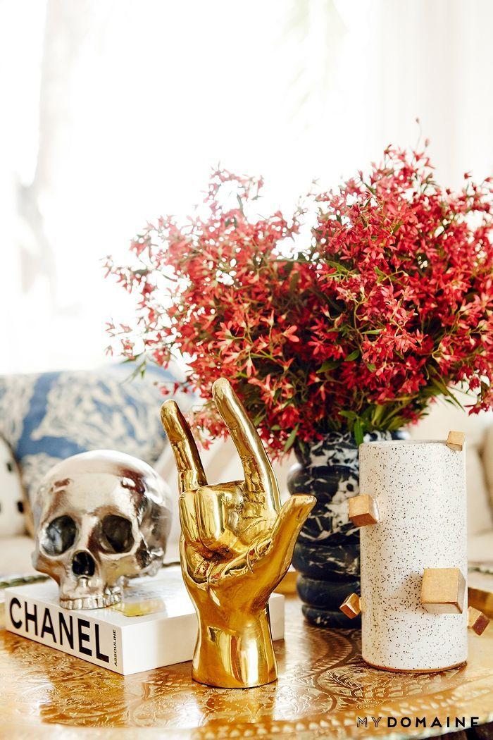 Nina Dobrev L.A. home tour   living room decor
