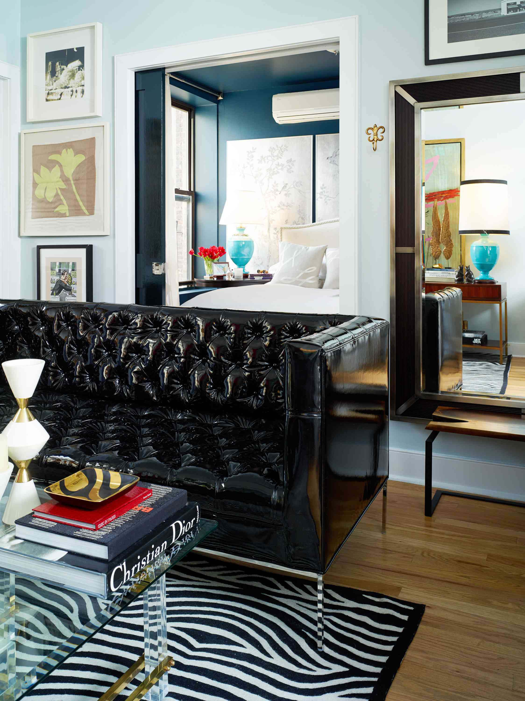 Black custom sofa.