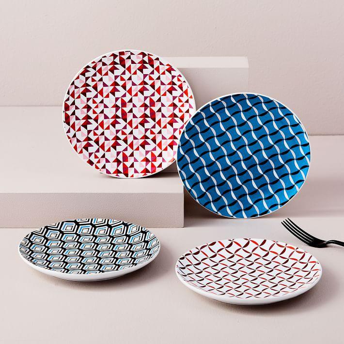 Vintage Pattern Dessert Plates