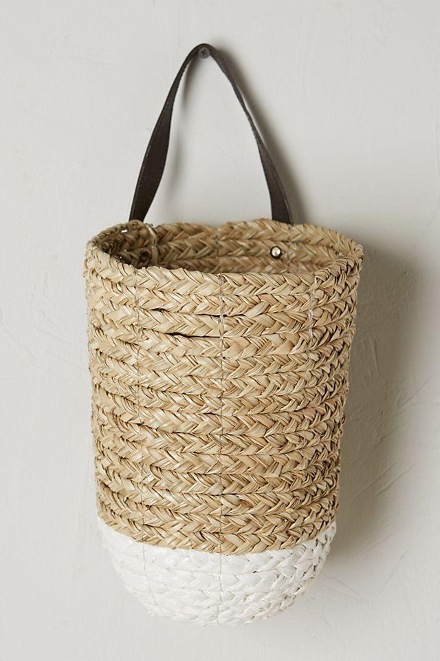 Anthropologie Braided Hanging Basket