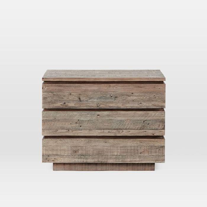 West Elm Emmerson Modern Reclaimed Wood 3-Drawer Dresser