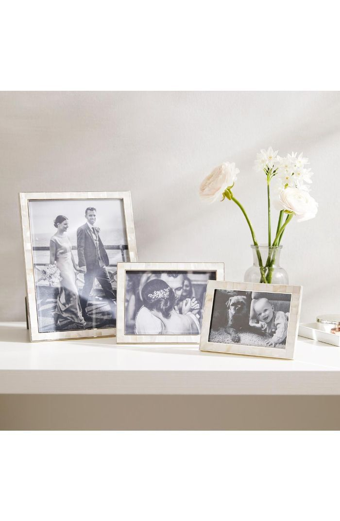 The White Company The White Company Mother Of Pearl Picture Frame