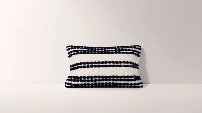 Burrow Navy Horizontal Striped Pillow Cover