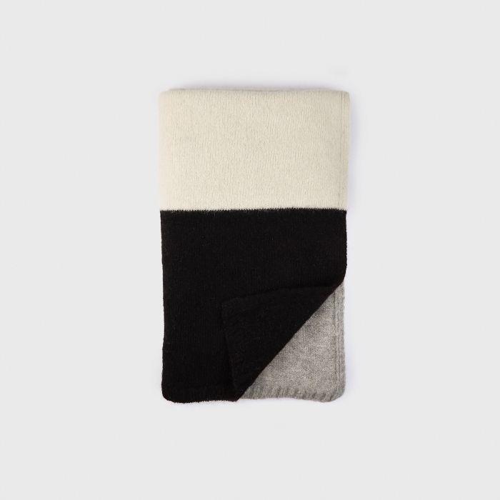Jenni Kayne Alpaca Colorblock Throw Blanket