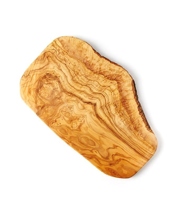 West Elm Large Olive Wood Rustic Cutting Board