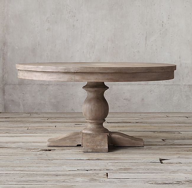 Restoration Hardware 17th Century Priory Round Dining Table