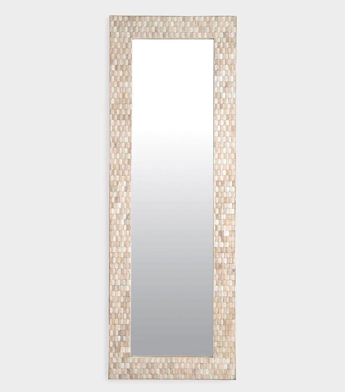 Teak Wood Mosaic Full Length Wall Mirror by World Market