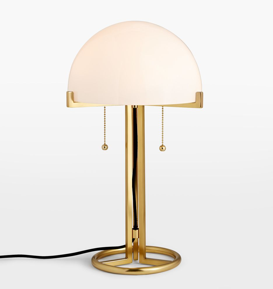 Rejuvenation Altadena Glass Shade Table Lamp