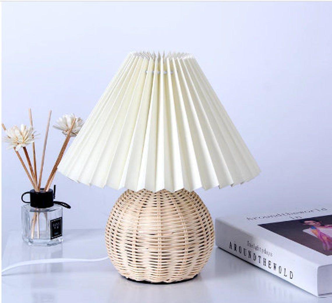 Japan Woven Wicker Table Lamp