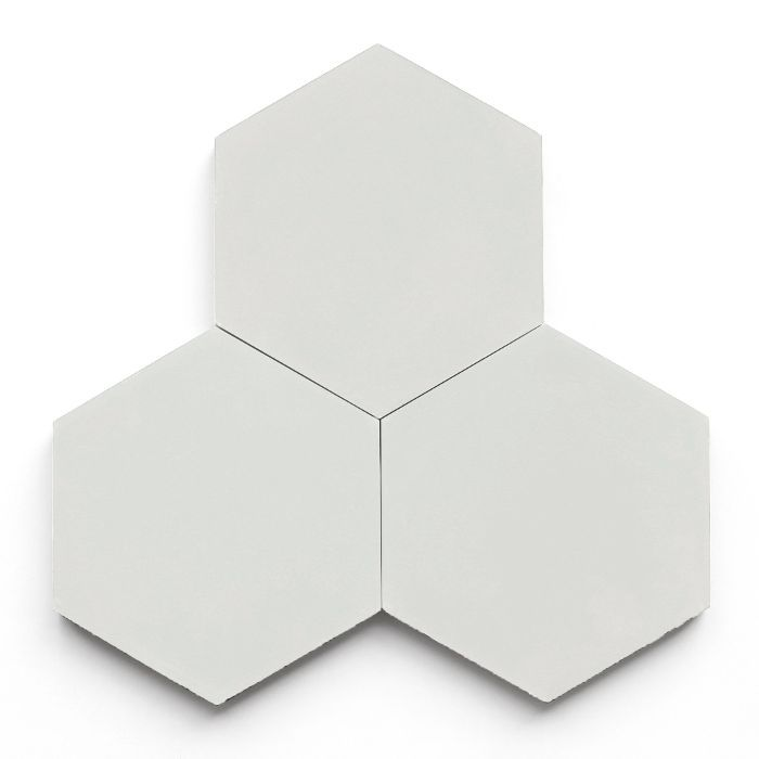 Clé Tile Ash Solid Hex Tile