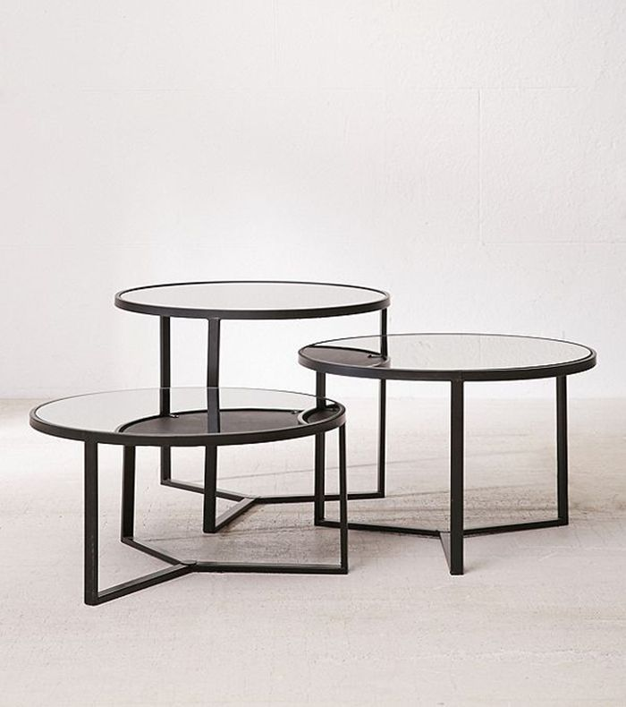 Elliot Mirrored Coffee Table - Black S at Urban Outfitters
