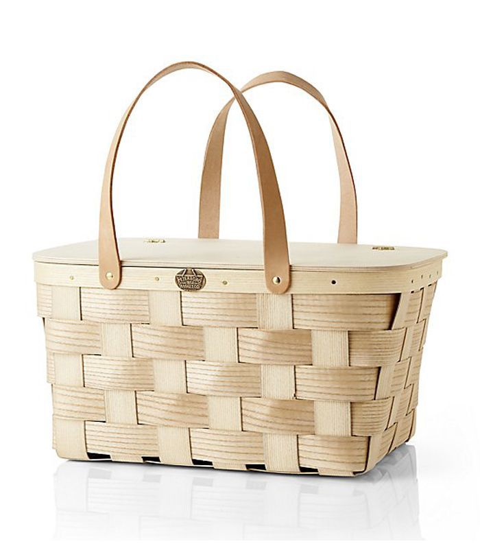 Leather-Handled Picnic Basket - Crate and Barrel