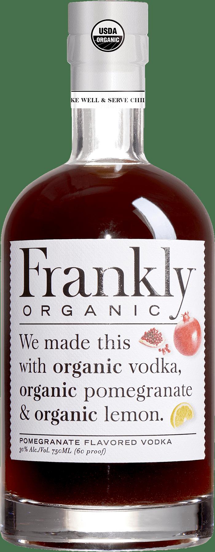 Bottle of pomegranate vodka.