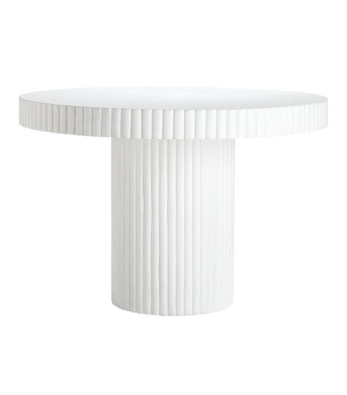 Scallop Ivory Table
