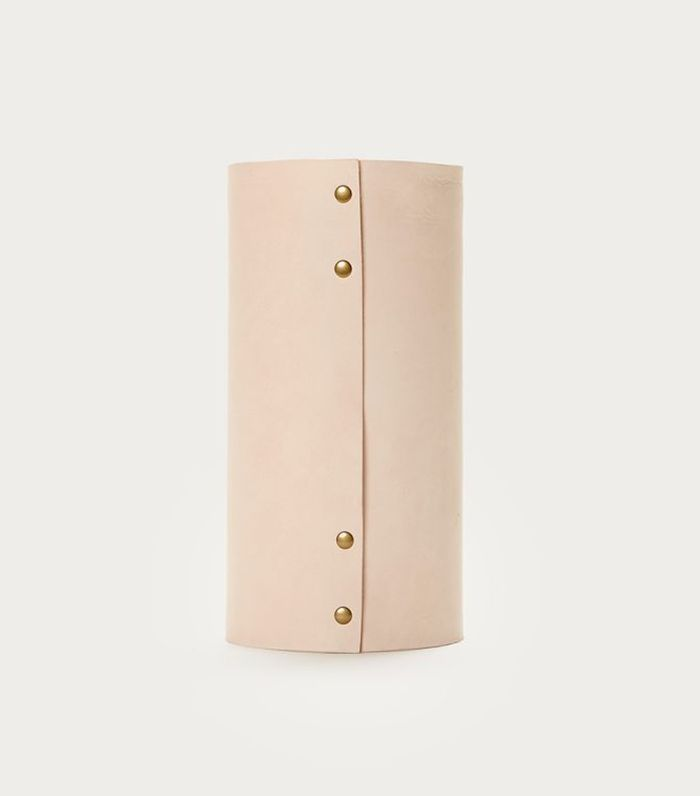 Jenni Kayne Medium Leather Rivet Vase
