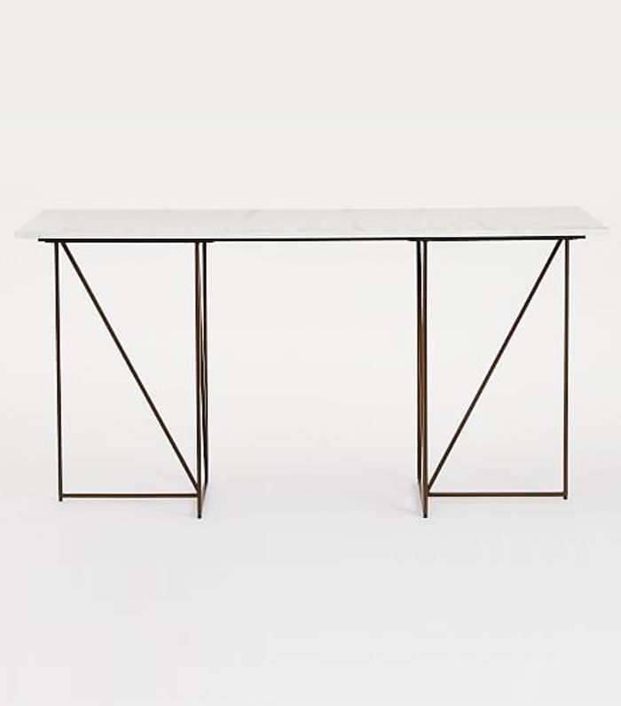 Marble + Brass Geo Desk