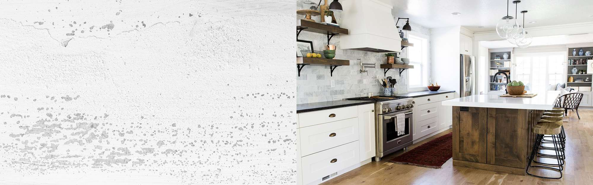 Rustic kitchen cabinets lead.