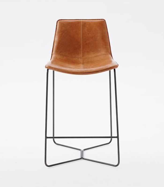 Slope Leather Counter Stool
