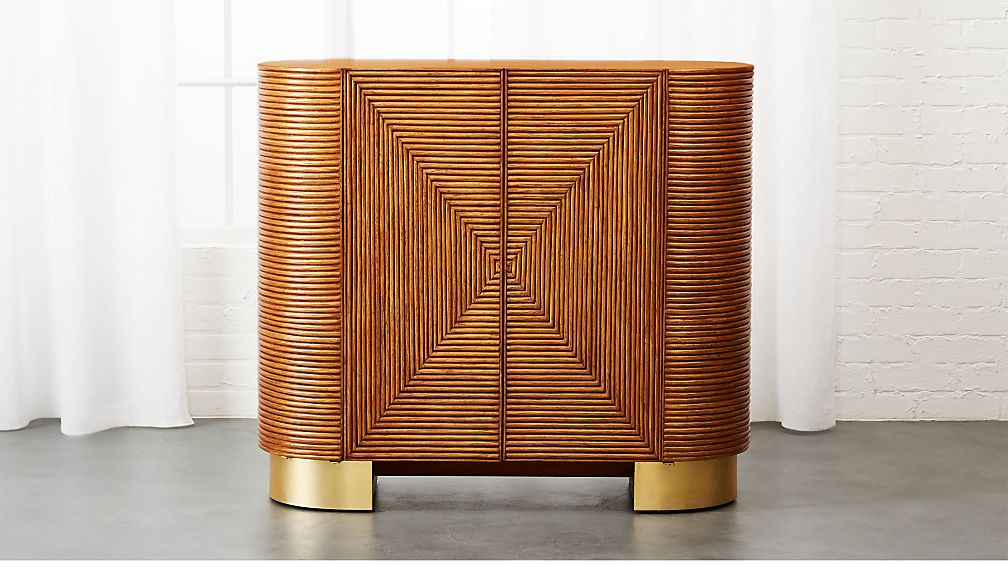 CB2 brand Avalon Rattan Bar