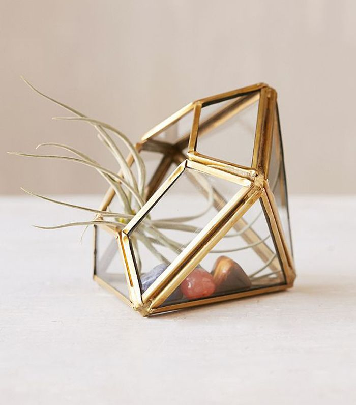 Mini Geo Terrarium - Bronze One Size at Urban Outfitters