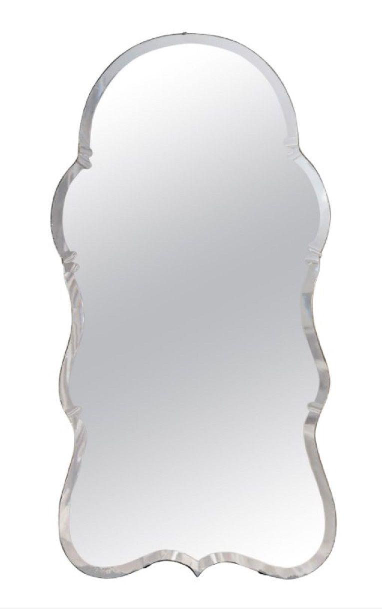 Chairish English Midcentury Queen Anne Style Mirror