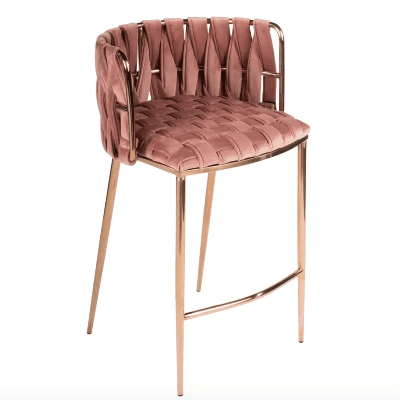 Milano Counter Chair in Rose and Gold