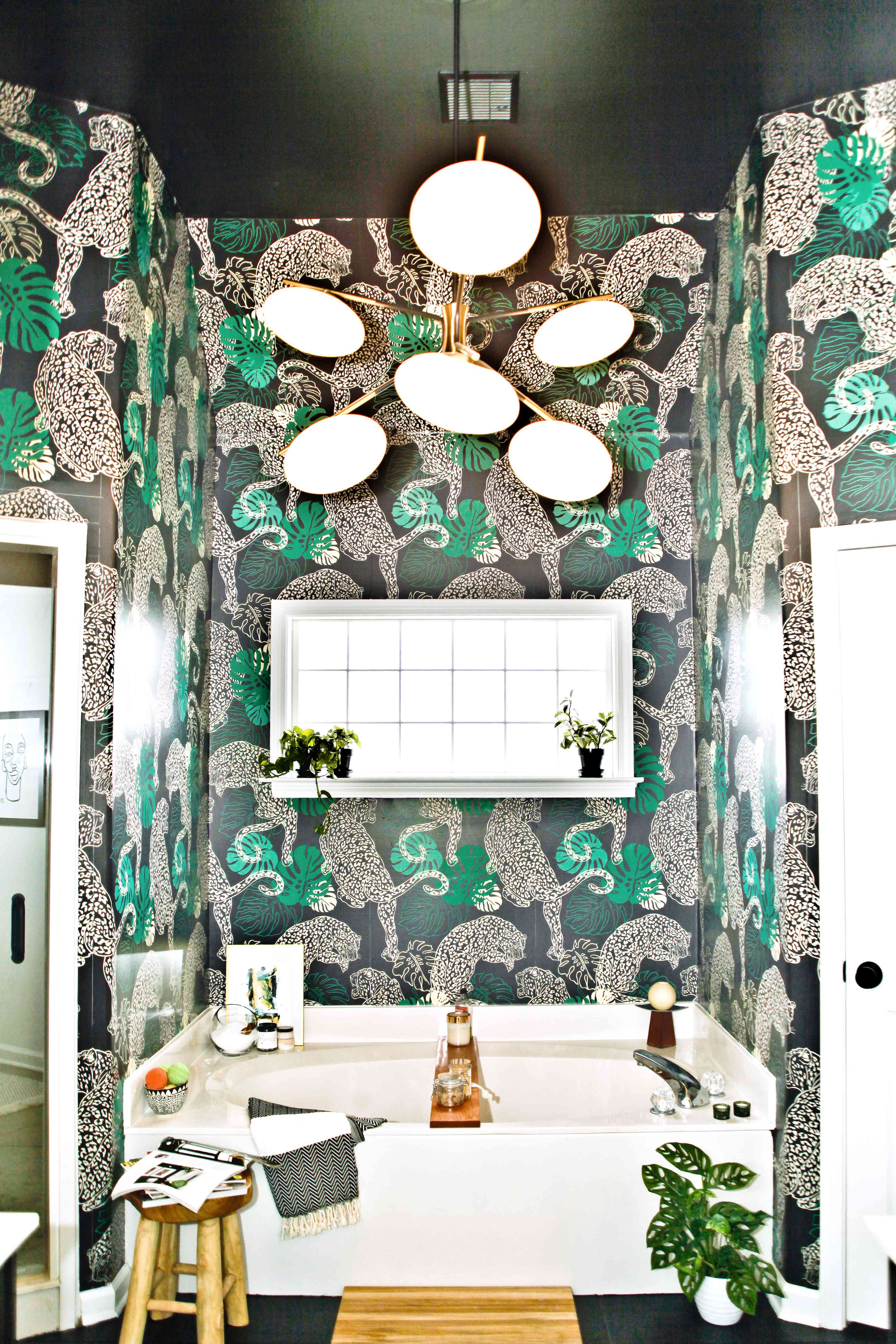 one room I'll never forget - bathroom with cheetah wallpaper