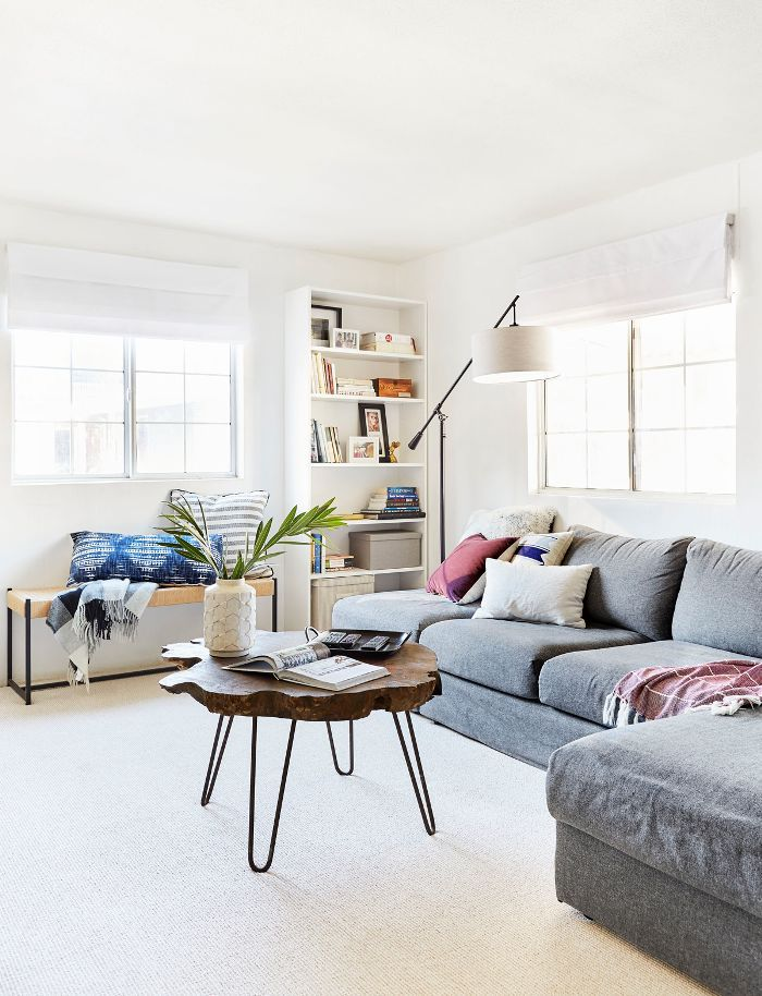 Contemporary Living Room after remodel