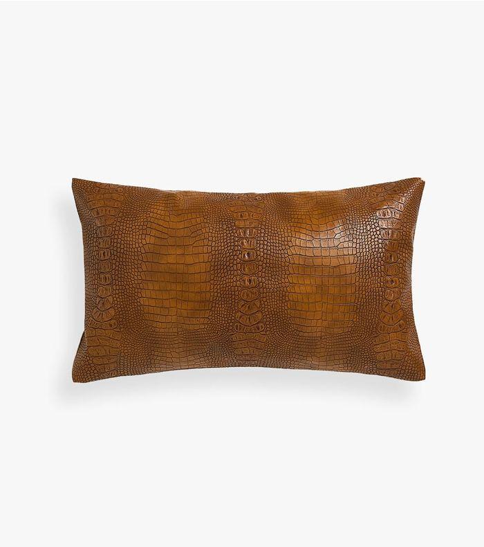 Zara Home Mock Crock Throw Pillow Cover