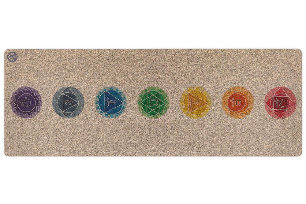 Yoloha Yoga Chakras Unity Cork Yoga Mat