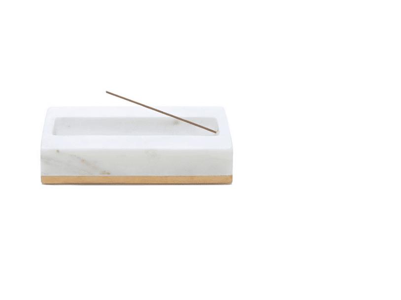 Goop x Caravan Marble Incense Burner with Brushed Brass